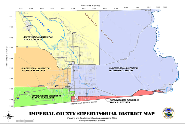 Board of Supervisors District Map of Imperial County
