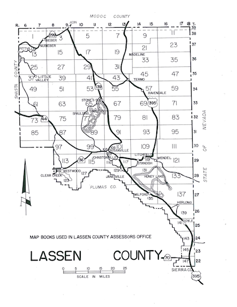 Board of Supervisors District Map of Lassen County
