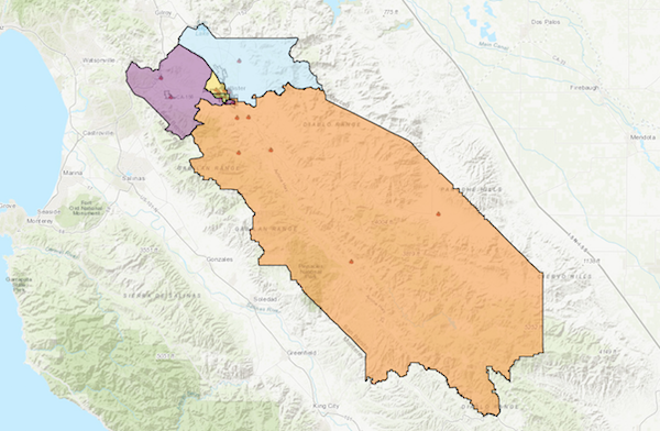 Board of Supervisors District Map of San Benito County